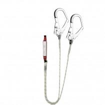 El. amarre doble cuerda Ø10,5mm absorbedor energía y gancho 56mm EN362