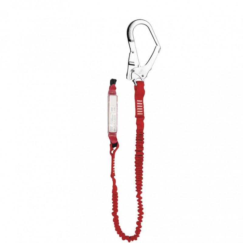 Elemento amarre cinta elástica con absorbedor energía y gancho 56mm - EN 354, EN 355 & EN 362 (ref. ABM+LE101+AZ022)