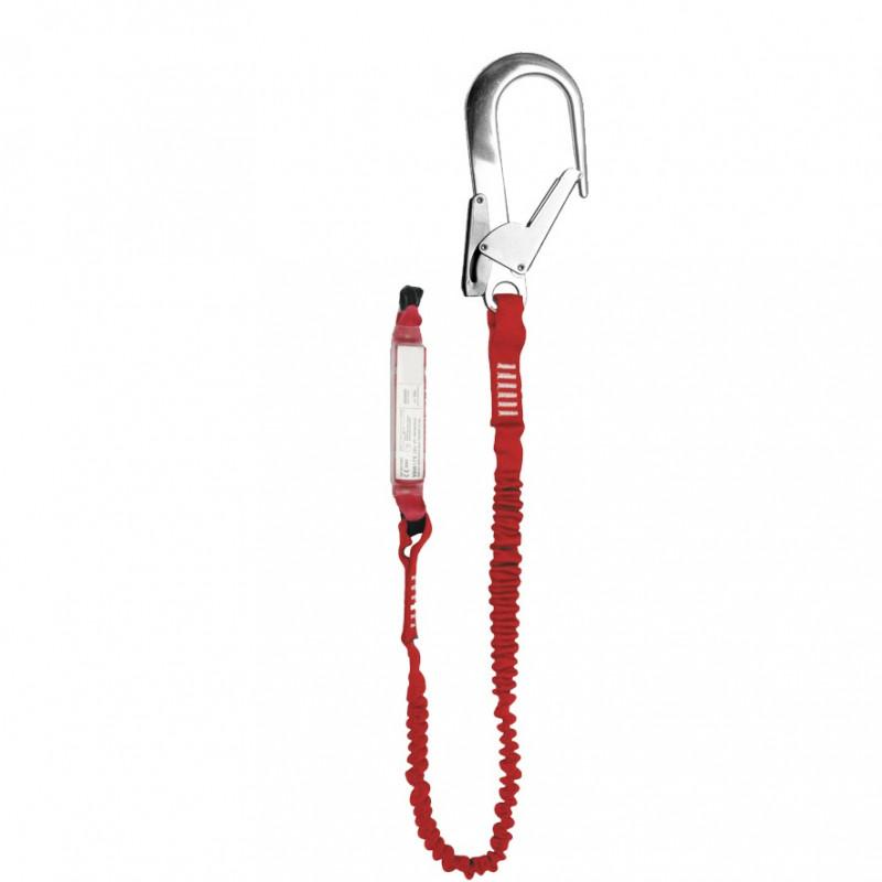 Elemento amarre cinta elástica con absorbedor energía y gancho 64mm - EN 354, EN 355 & EN 362 (ref. ABM+LE101+AZ023)