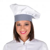 Gorro chef velcro banda vichy