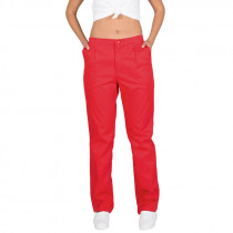 Pantalón Cremallera y Bolsillos Color