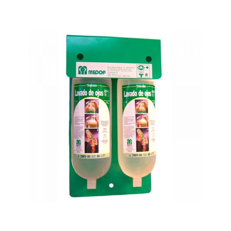 Lavaojos soporte a pared de 1 litro