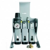 Unidad de filtración de aire comprimido para suelo + juego conexión rápido