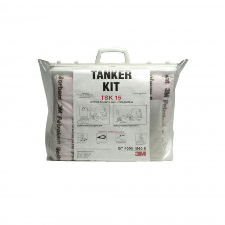 Absorbente hidrocarburos, kit para derrames (15 litros) TSK15 - 5 kits