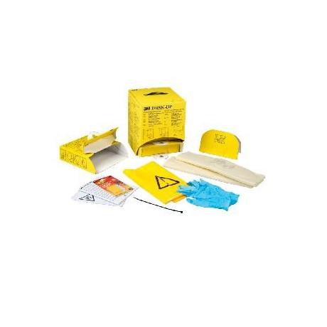 Kit desechable para derrames con sistema dispensador DRSKDP - 4 kits/dispensador (12 kits)