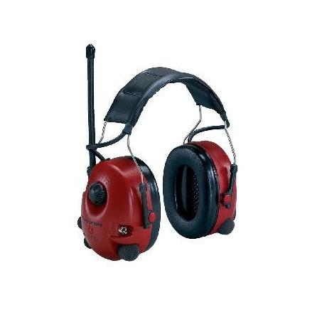 Orejera Alert AM/FM radio estéreo dependencia de nivel, roja, para casco M2RX7P3E