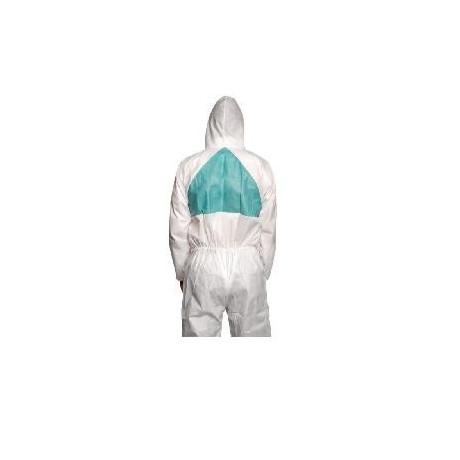 Prenda de protección cómoda frente a polvo y salpicaduras leves, Blanco+Verde tipo 5/6 4520 (20 Unds)