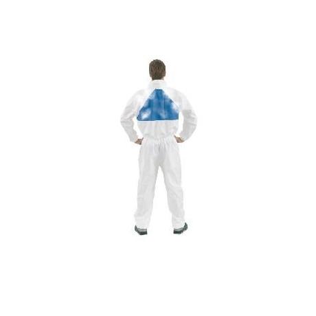 Prenda de protección cómoda frente a polvo y salpicaduras leves, Blanco+Azul, tipo 5/6 4540+ (20 Unds)