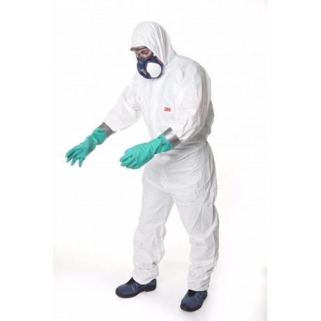 Prenda de protección cómoda frente a polvo y salpicaduras leves, Blanco, tipo 5/6 4545 (20 Unds)