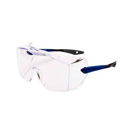 OX3000 Cubregafas montura azul PC DX incolora patilla recta 17-5118-3040P (20 gafas)