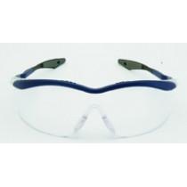 QX3000 Gafas montura azul PC incolora DX patilla recta 04-1023-0140M (20 gafas)