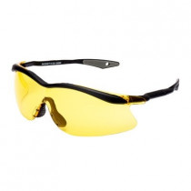 QX3000 Gafas montura negra PC amarilla DX patilla recta 04-1023-0246N (20 gafas)