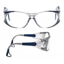 EAGLE Gafas montura azul PC incolora AR/AE 04-3022-40M (20 gafas)